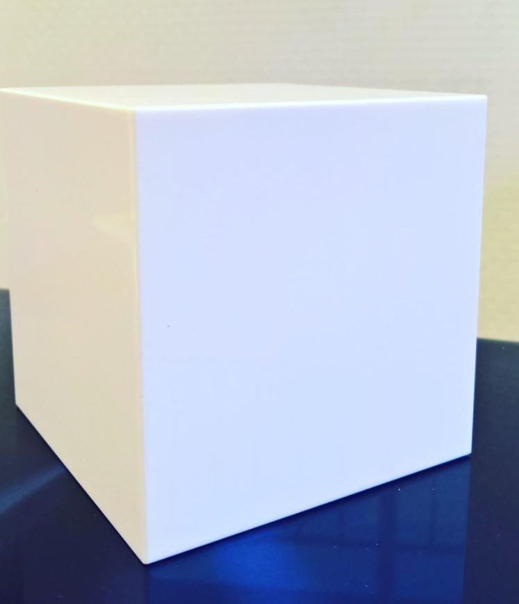 présentoir cube