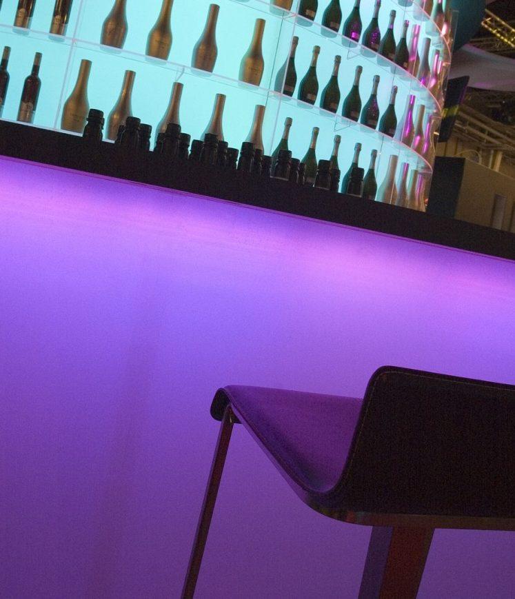 Bar plexi et LED