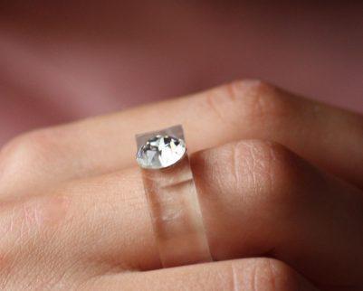 Diamond crystal ring
