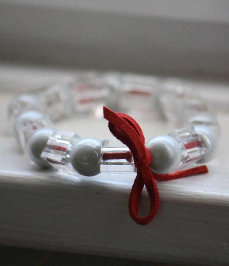 bracelet perles et cuir