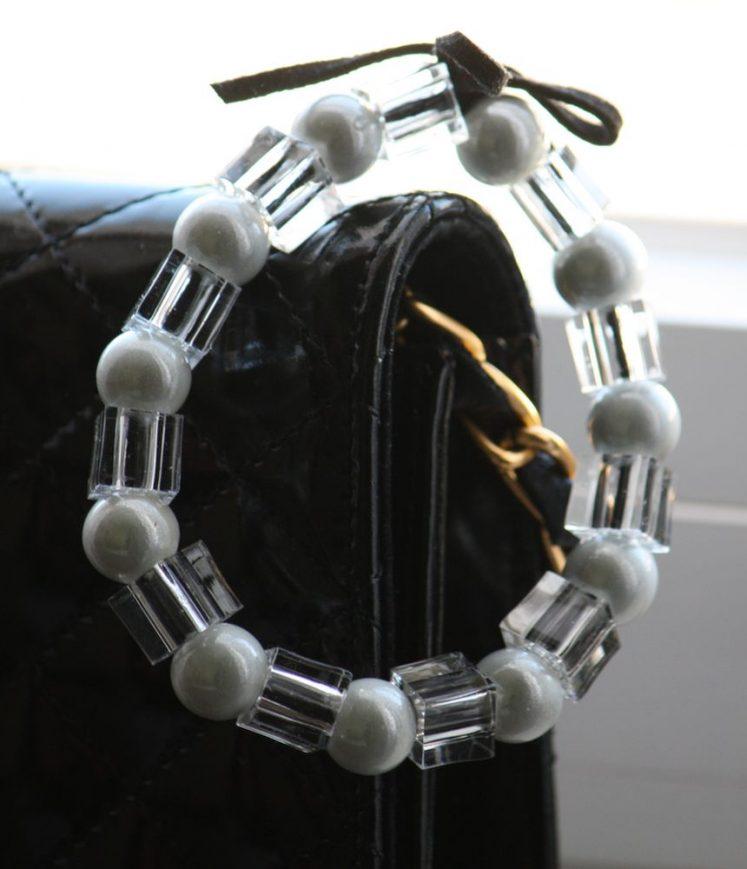 bracelet perles et cuir design'n chic