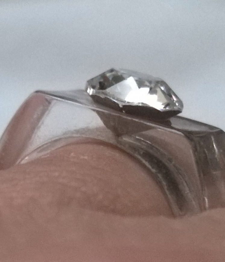 bague diamant cristal 6mm