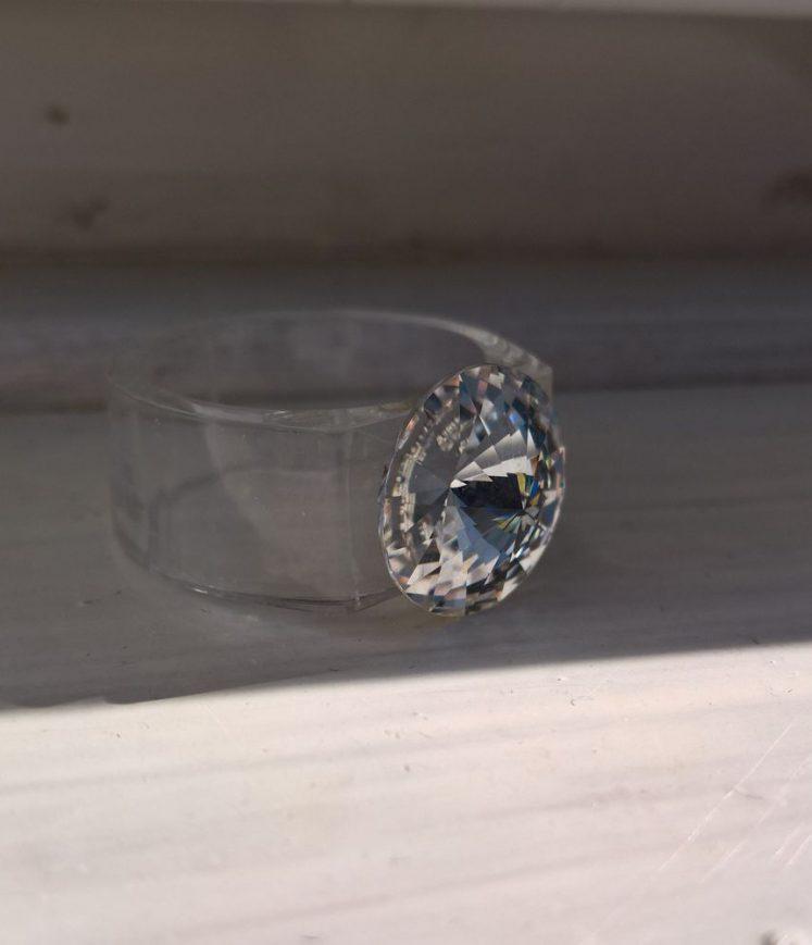 Bague cristal diamant 10mm