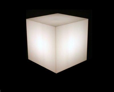 cube lumineux, allumé
