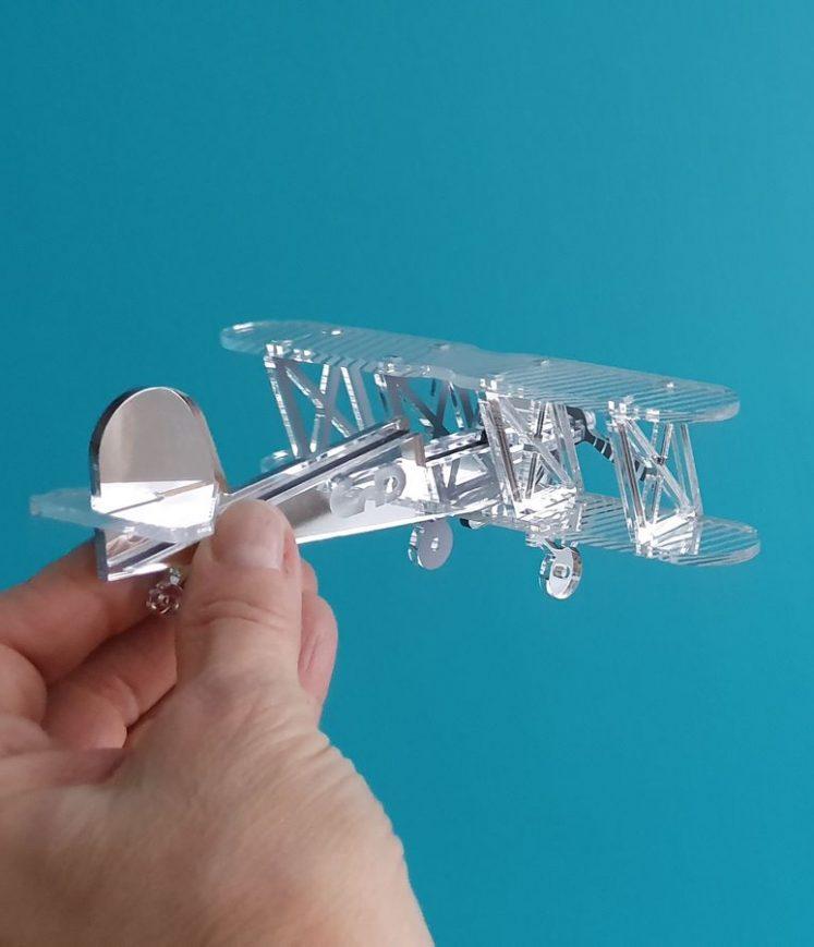 avion biplan décoration