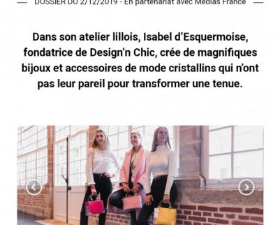 Design'n Chic, dans les incontournables de Marie-Claire