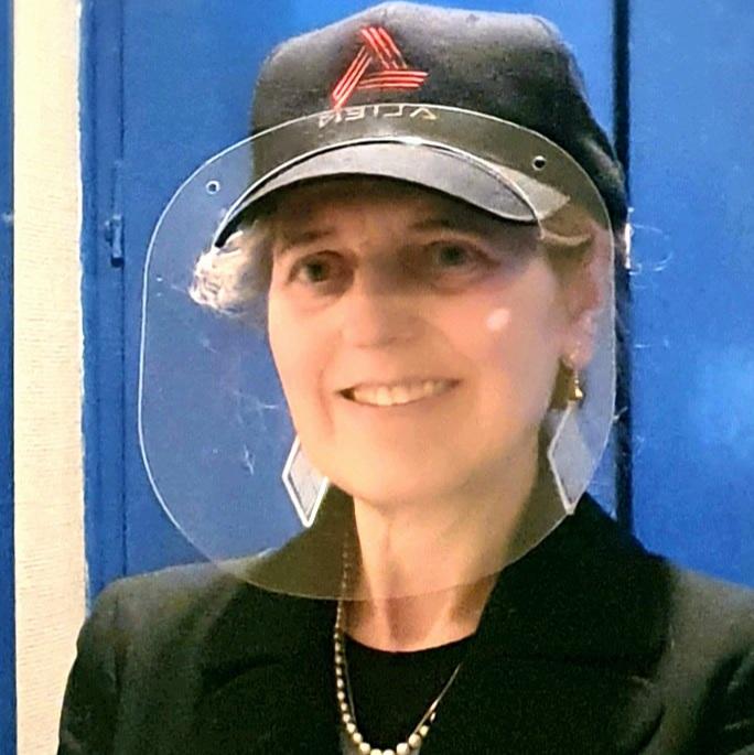 protection faciale sur casquette
