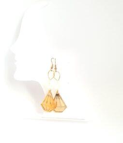 boucles diamant doré